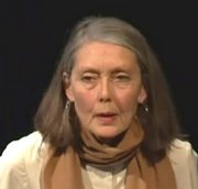 Die Dichterin Anne Carson an einer Lesung in Minneapolis/USA (2011)
