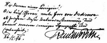 Handschrift Rilke