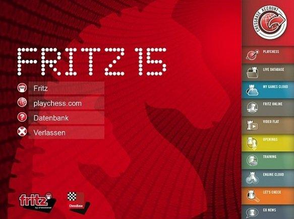 Fritz15_Startbildschirm