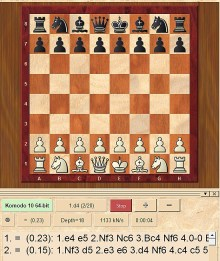 """... während heutzutage ein kleines 2-MB-Programm wie der amtierende Weltmeister «Komodo» mit fast der gesamten menschlichen Grossmeister-Gilde <a href=""""https://en.chessbase.com/post/wsj-on-odds-chess-match-nakamura-vs-komodo"""">aufräumt</a>"""