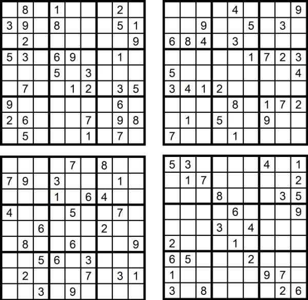 Der Sudoku-Spass im Mai 2017