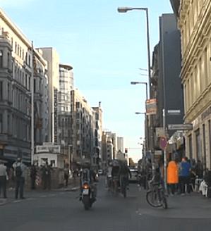 Die Friedrichstrasse im Berlin unserer Tage