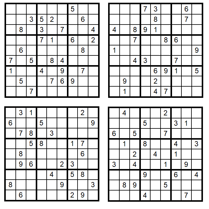 Sudoku-1-4 - April 2018 - Glarean-Magazin - Aufgaben