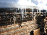 Eiszapfen am Dach mit Sonne im Winter - Glarean Magazin