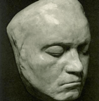 Totenmaske von Ludwig van Beethoven (1770-1827)