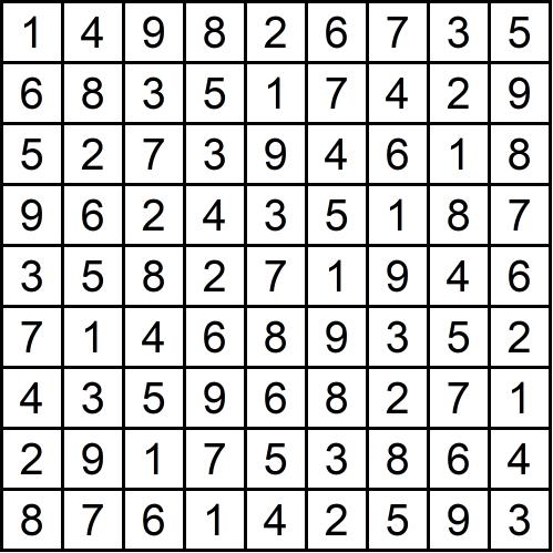 Sudoku leicht - Glarean Magazin (Lösungen) - März 2019