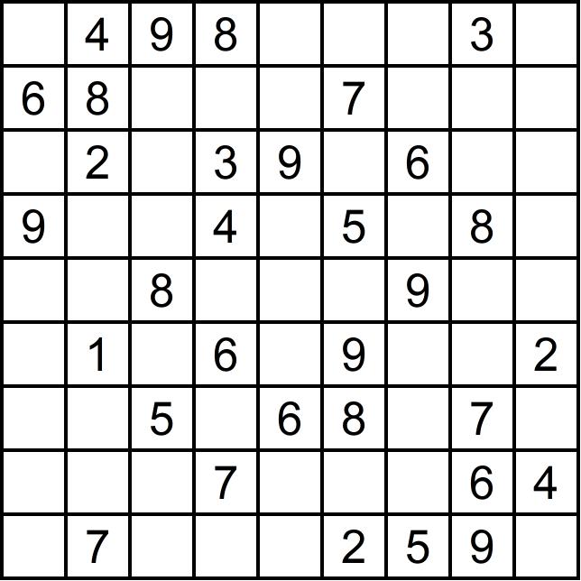 Sudoku leicht - Glarean Magazin - März 2019