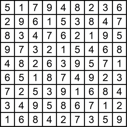 Sudoku schwierig - Glarean Magazin (Lösungen) - März 2019