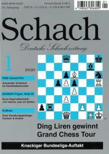 SCHACH - Deutsche Schachzeitung - Cover Januar 2020 - Rezensionen Glarean Magazin