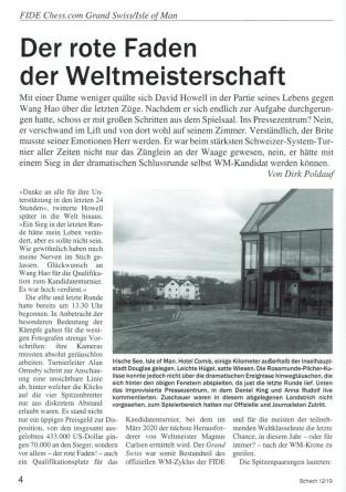 SCHACH - Deutsche Schachzeitung - Leseprobe - Rezensionen Glarean Magazin