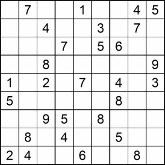Sudoku Glarean Magazin - mittelschwierig - Januar 2021
