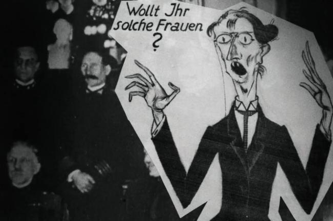 Wollt ihr solche Frauen - Patriarchalisches Anti-Emanzipations-Plakat in den 1920er Jahren - Glarean Magazin