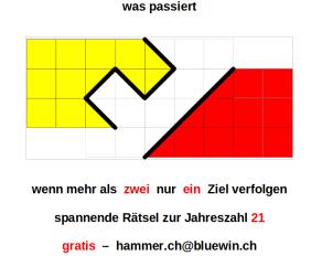 Peter Hammer - Rätsel - Denksport - Insertion GLAREAN MAGAZIN - Oktober 2021