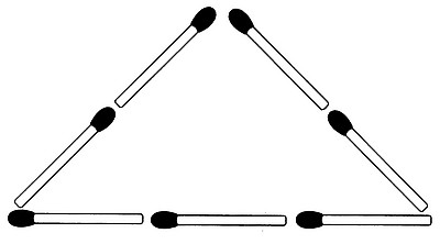 Streichholzrätsel Denksport-Aufgabe mit Lösung Matchstick Puzzle Nummer 03