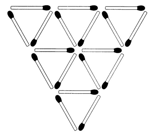 Streichholzrätsel Denksport-Aufgabe mit Lösung Matchstick Puzzle Nummer 04