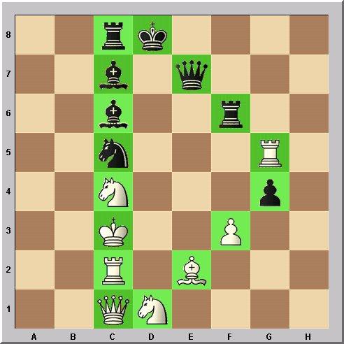 Walter Eigenmann hat die acht Linien des Schachbrettes transferiert in die ersten acht Buchstaben des Alphabets: Das Schach-Alphabet: Heute: Buchstabe D