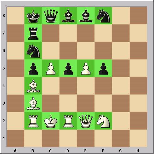 Walter Eigenmann hat die acht Linien des Schachbrettes transferiert in die ersten acht Buchstaben des Alphabets: Das Schach-Alphabet: Heute: Buchstabe E.