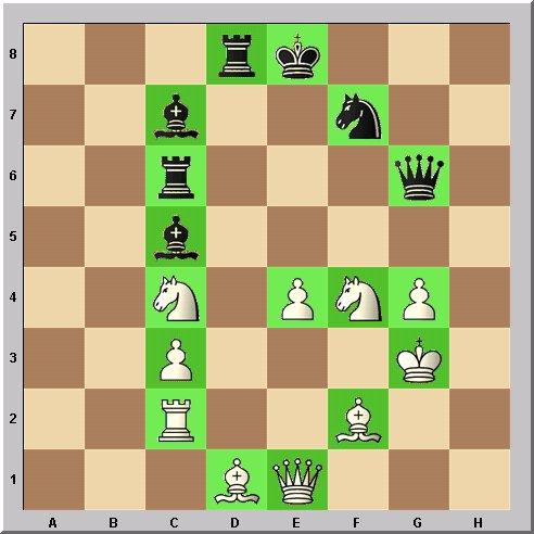 Walter Eigenmann hat die acht Linien des Schachbrettes transferiert in die ersten acht Buchstaben des Alphabets: Das Schach-Alphabet: Heute: Buchstabe G.