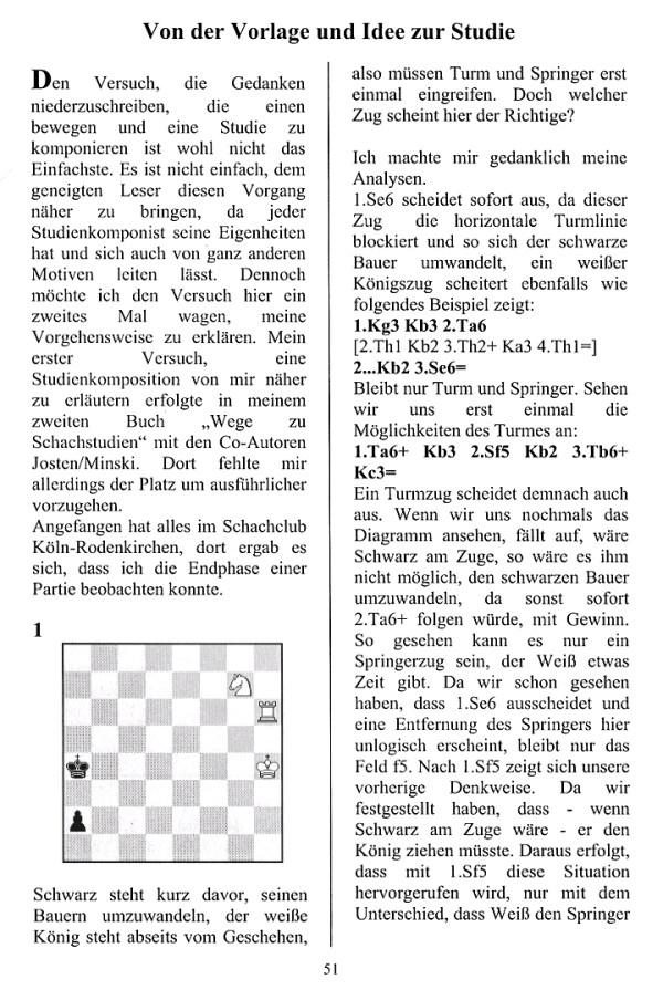 Leseprobe aus Gerd Hörning: Von der Vorlage und Idee zur Studie (Im Traumland der Schachstudie)