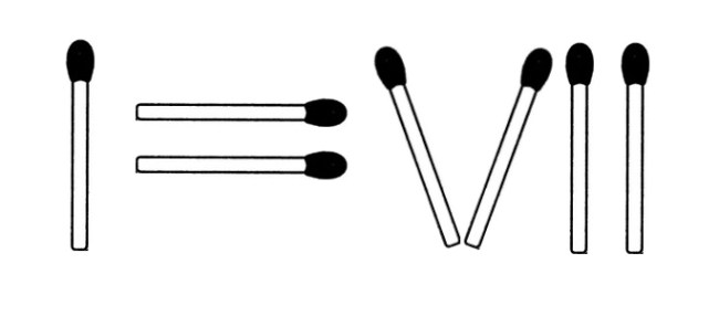 Streichholzrätsel Denksport-Aufgabe mit Lösung Matchstick Puzzle (Nummer 20)
