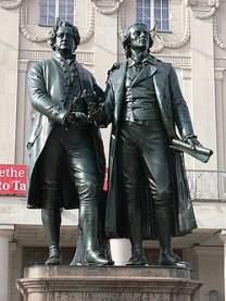 Kult um das «Originalgenie» seit dem «Sturm&Drang»: Goethe-Schiller-Denkmal in Weimar