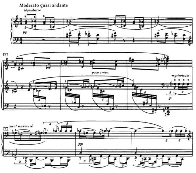 Große emotionale Spannweite auf kleinstem Raum: Beginn von Skrjabins 9. Klaviersonate op.68 (