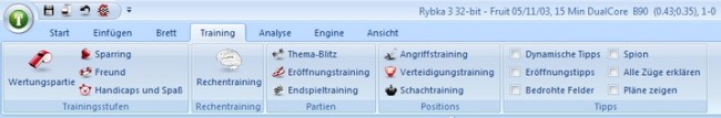 Fritz nun auch im «Office-07»-Look des sog. «Ribbon-Menu-Controllings»
