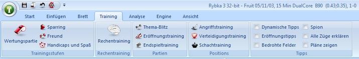 Fritz12-Training-Leiste