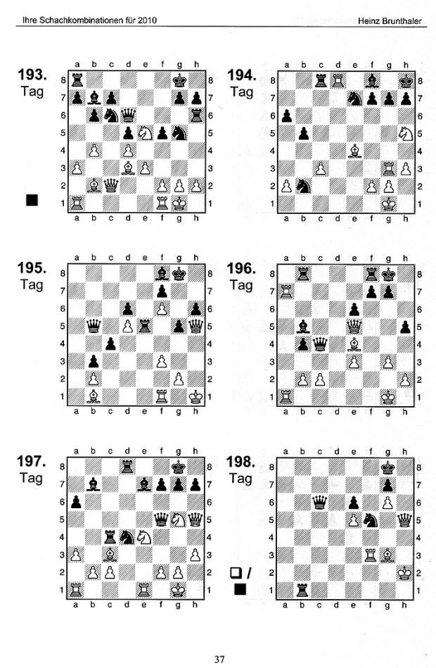 """Heinz Brunthaler: """"Ihre Schachkombinationen für 2010"""" - Leseprobe"""