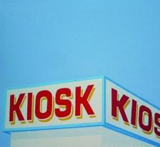 Bernhard Eberle - Kiosk   mehrfarbiger Linoldruck   55x55   Auflage 20   2011