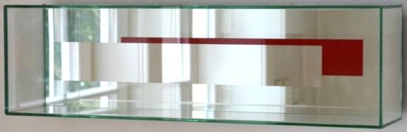 Chiara Dynys, Ombre Rosse, 2012, Crystal, silver and enamel, 20 x 50 cm