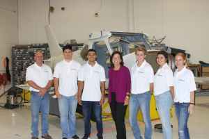 Wednesday was Siemens Day, and again the shirts show it. From left: Jim Laurent, Bryant Castro, Michael Gomez, Barbara Humpton, Kodee Scott and Amber McCutcheon.
