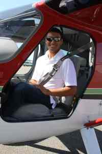 Michael Gomez logged many virtual flight hours competing in the Aviation Design Challenge. This however was his first flight in a real general aviation airplane.