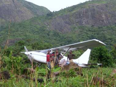 Sportsman N211PH At Remote Bush Strip In Cameroon, Africa
