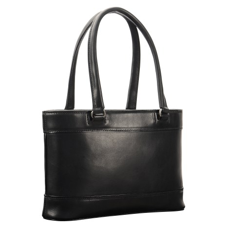 Hand-burnished,-black-Hand-Bag-with-two-handles;-12-x-8-x-3'