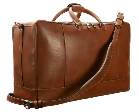 Hand-burnished,-espresso-Square-Duffel;-22-x-14-x-8'-back