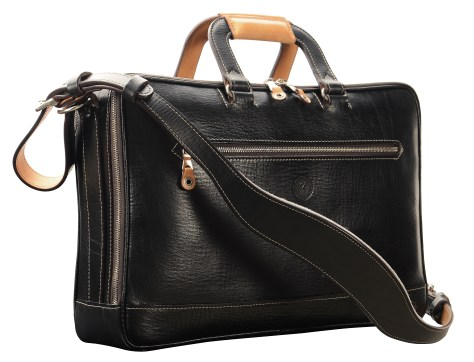 Hand-grained,-hand-colored,-black-Soft-Attache-with-hand-grained-natural-trim;-16-x-10-x-4'