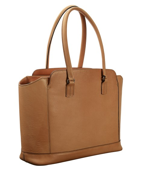 Hand-grained,-natural-City-Tote-with-turquoise-lining;-16-x-12-x-6'