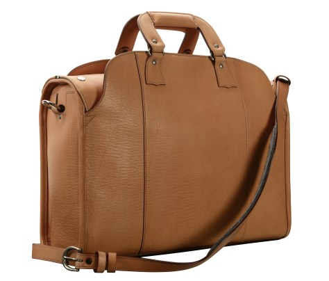 Hand-grained,-hand-finished-natural-Deal-Bag;-18-x-12-x-6'-back