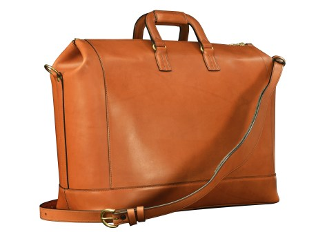 Hand-burnished,-handmade-chestnut-Club-Bag-with-turquoise-lining;-19-x-13-x-8'-back2