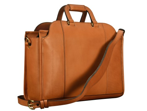 Hand-burnished-chestnut-Day-Tote;-17-x-12-x-6'-back