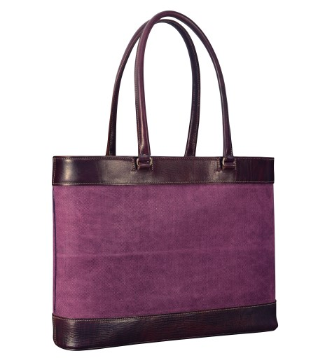 Hand-grained,-hand-colored-violetta-Business-Tote-with-hand-colored-violetta-belgian-linen-and-magenta-lining;-17-x-13-x-4'