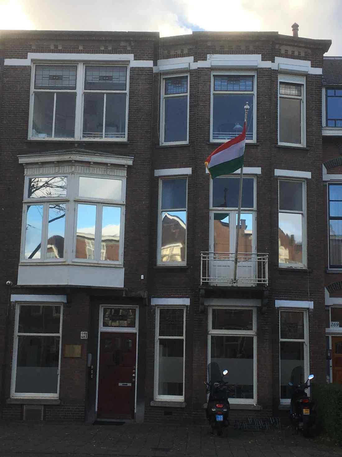 Sunblock Zilver 20 beperkt de inkijk bij de Hongaarse Ambassade in den Haag