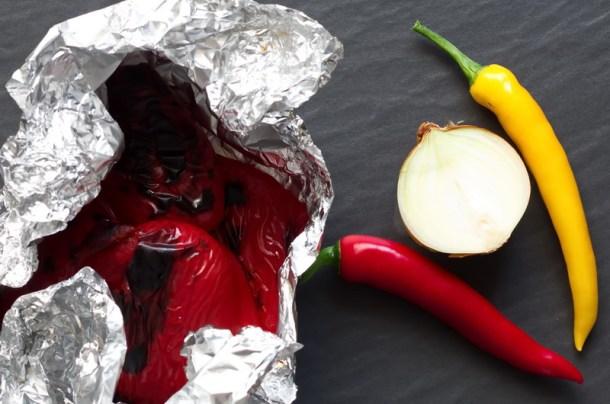Feuerwerk-Grillsauce geröstete Paprika
