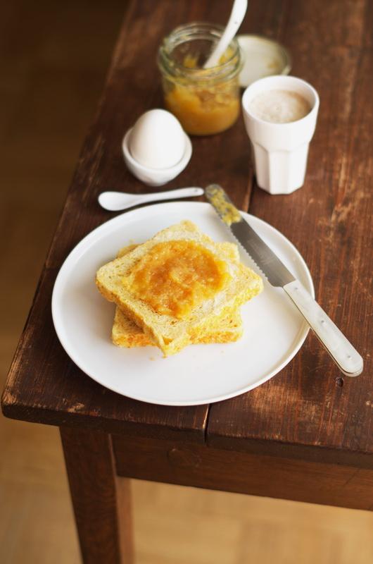 Quitten-Kürbis-Marmelade fertig hergestellt