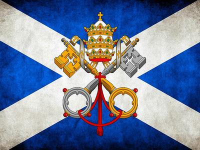 Catholic flag in Scotland