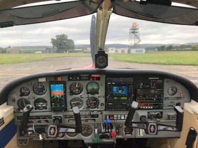 The cockpit of the Warrior