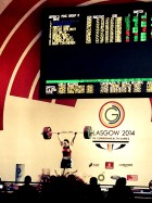 Weighlifting - gold medal moment