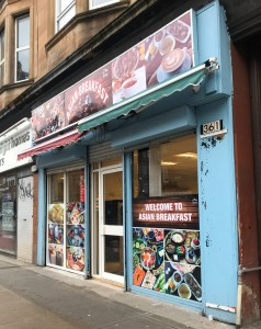 Asian breakfast Southside Glasgow