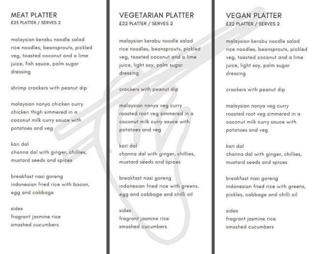 Julie's Kopitiam menu